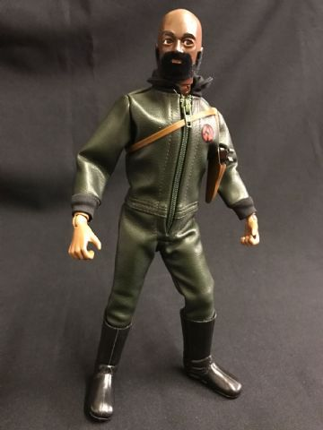 CUSTOM ACTION MAN - BLACK EAGLE EYES ADVENTURE TEAM FIGURE ( Ref Cus1)